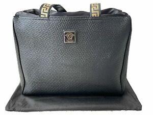Versace Parfums Black Tote Bag / Shopper / Beach / Gym Bag