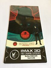 1 Rogue One Star Wars Disney IMAX 3D First Showing Collectible Movie Ticket SW