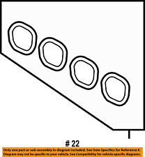 FORD OEM 11-18 Fiesta-Engine Intake Manifold Gasket 4M5Z9439A-SOLD INDIVIDUALLY