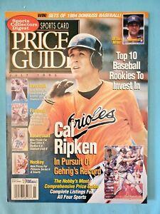 CAL RIPKEN JR.- SCD SPORTS CARD PRICE GUIDE MAGAZINE JULY 1995