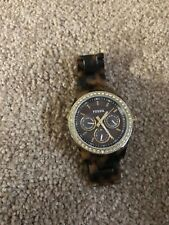 Fossil Stella Woman's Watch ES2795 Tortoise Resin WORKS GREAT~