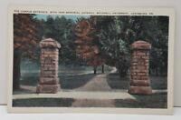 Lewisburg Pa, Campus Entrance with 1905 Memorial Gateway Bucknell Postcard C8