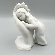 """Porzellanfigur """"Bleib sein Kind"""", Dorothea Steigerwald, Kind in Hand, Sitzendorf"""