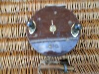 Vintage Eton Sun  Brass & Bakelite Saltwater Fishing Reel  6 inches diameter,