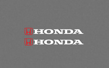 Honda Logo 2X Decal Sticker RED/WHITE turbo si civic accord crx del sol ivtec