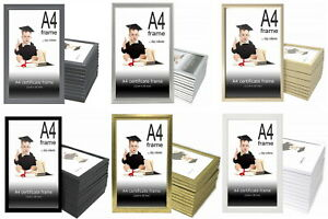 A4 Photo Frames - Box of 12 - Bulk Certificate and Picture Frames - Black, White