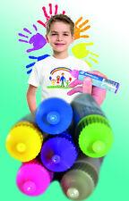 Stoffmalfarbe 6 x 30ml Textilmalfarbe Stoff Basteln Kinder Farbe Textil T-Shirt