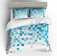 Gradient Nice Blue 3D Quilt Duvet Doona Cover Set Single Double Queen King Print