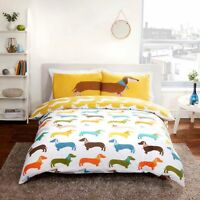 Rapport Dachshund Sausage Dog Duvet Cover Set S/D/K Size Free P&P