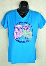 L.A.T. Save The W Hooters T-Shirt Women's Size Medium 100% Cotton Invo: H-68