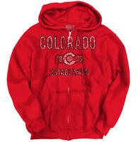 Colorado Flag Vintage Workout CO Vacation  Adult Zip Hoodie Jacket Sweatshirt