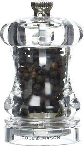 Cole & Mason Capstan Pepper Mill Acrylic Clear 85mm Lifetime Guarantee H12501P