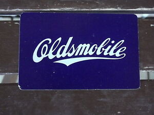 OLDSMOBILE CARS SINGLE vintage playing card 7 hearts
