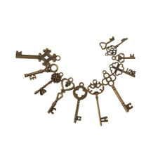 11 Pcs Vintage Antique Old Look punk Skeleton Key Pendant Heart Bow Lock Steam