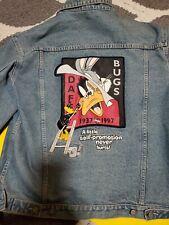 Looney Tunes Denim Jacket Bugs Daffy 60 Years Warner Bros Store Exclusive size M