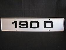 Showroom licence plate Mercedes-Benz 190 D (JS)