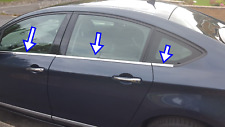 Citroen C-5 2008-2017 Chrome Windows Frame Trim 4 Door 6Pcs S.Steel