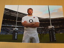 Signed Chris Robshaw England Rugby Union Captain 12x8 photo - Rugby World Cup