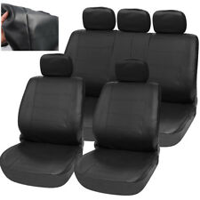 11 Pcs PU Leather Car Off-Road Interior Accessories Seat Cover Cushion Universal