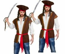 Piraten Outfit Hemd & Weste Erwachsene Instant Piraten Kostüm Set