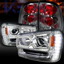 02-09 Trailblazer Chrome SMD LED Projector Headlights+Smoke Tail Lamps