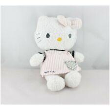 Doudou chat HELLO KITTY robe rose côtelé SANRIO LICENSE  - Chat - Lion - Tigre C