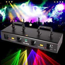460mW 4 Beam RGPY Laser Light DMX 7CH DJ Disco Stage Party Show Sound Active Bar