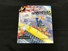 Crazy Taxy Launch Advertisement Dreamcast New