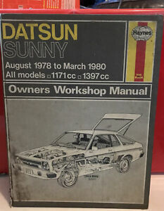 525 Datsun Sunny 1978 - 1980 Haynes Owners Workshop Manual