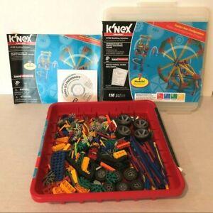 Knex Building Set Lot With Storage Case 491 Pieces Set of Wheels Rods Connectors