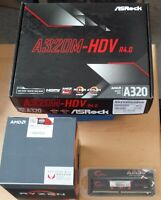 Aufrüstkit AMD Ryzen 3 2200G AM4, ASRock MB A320M-HDV u. 4 GB DDR4