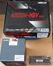 Aufrüstkit AMD Ryzen 3 2200G AM4, ASRock MB A320M-HDV u. 4 GB DDR4 G.Skill Aegis