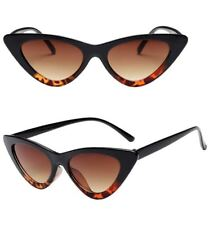 Women Vintage Sunglasses Cat Eye Triangle Beach Eyewear Glasses Small Frame