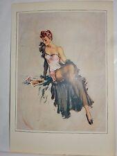 Boudoir Salon 1940s 50s  Decor Vintage print from photographers studio  nude ..3
