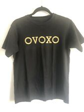 OVOXO Black And Gold Simple Black Tee/t-shirt Unisex Size S