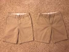 New listing Boys J Crewcuts (2-pack) Khaki School Uniform Shorts Size:10