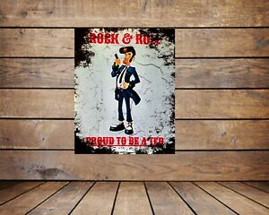 TEDDY BOY , PROUD TO BE A TED  ,RUSTING GRUNGE METAL WALL ART, TEDDY  INTEREST