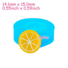 SEB016 15mm Lemon Piece Slice Silicone Mold Fruit Mold Mini Sweets Resin Clay