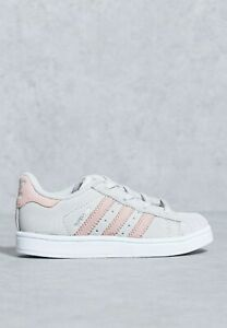 adidas Superstar Infants Size 4 Grey/Pink RRP £40 Brand New BZ0381 LAST PAIR