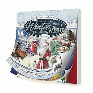 25 SHEET SET Hunkydory Square Little Book of WINTER WISHES  Paper Toppers