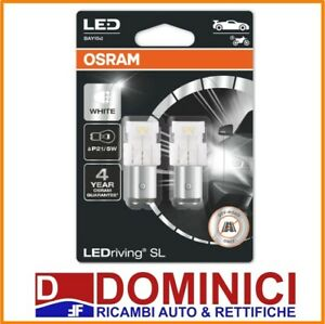 KIT LAMPADINE Osram 7528DWP-02B  6000K Bay15D Cool White 2W/0.4W 12V LED, P21/5W