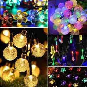 SOLAR POWERED String Lights LED Retro Bulb Garden Outdoor Fairy Ball Hangin Lamp