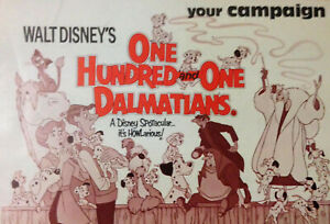 DISNEY UK 1976 CAMPAIGNE PRESS BOOK ONE HUNDRED AND ONE DALMATIANS