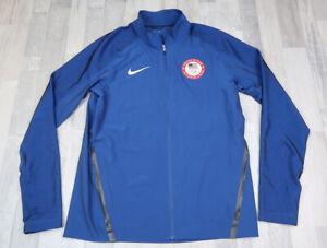mens nike USA Olympic TEAM Medium Jacket Blue Red Full Zip