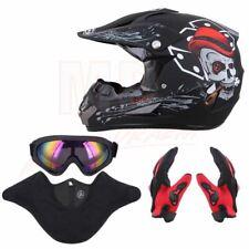 Dot Motorcycle Dirt Bike Atv Motocross Adult Helmet Goggles+Gloves+Mask S M L Xl
