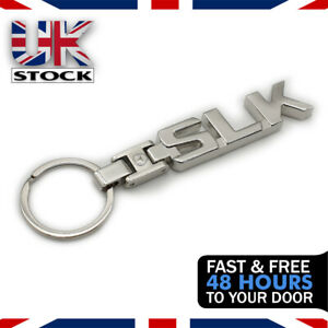 Mercedes Benz SLK AMG Keyring Car Badge Key Fob Gift - Chrome - UK Seller
