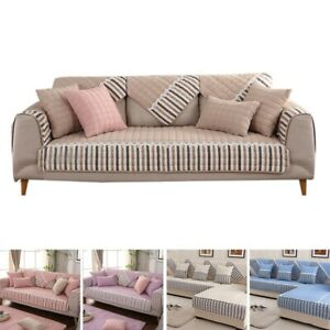 Couch Covers Sectional Sofa Cushion Striped Mat Home Furniture Protector Decor