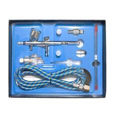Dual Action Gravity Feed Airbrush Kit W/ 1.8m Hose 0.2mm/0.3mm/0.5mm Needle UK