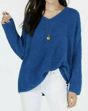 NWT Style & Co. Women's Blue Cozy Chenille V-Neck Sweater Size XXL