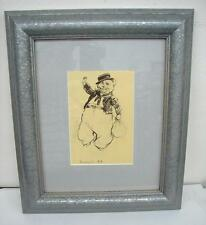 Norman Lindsay Cats framed book plate print  Barnacle bill   Nice condition